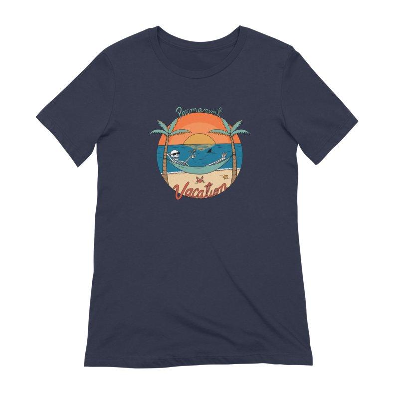 Skull permanent vacation Women's Extra Soft T-Shirt by coffeeman's Artist Shop