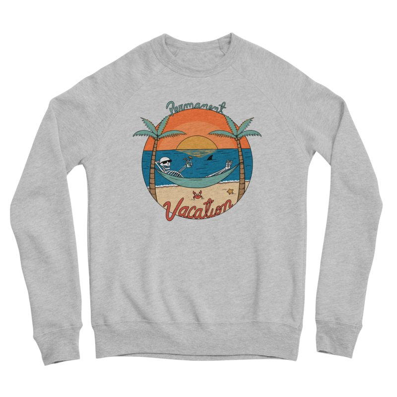 Skull permanent vacation Women's Sponge Fleece Sweatshirt by coffeeman's Artist Shop