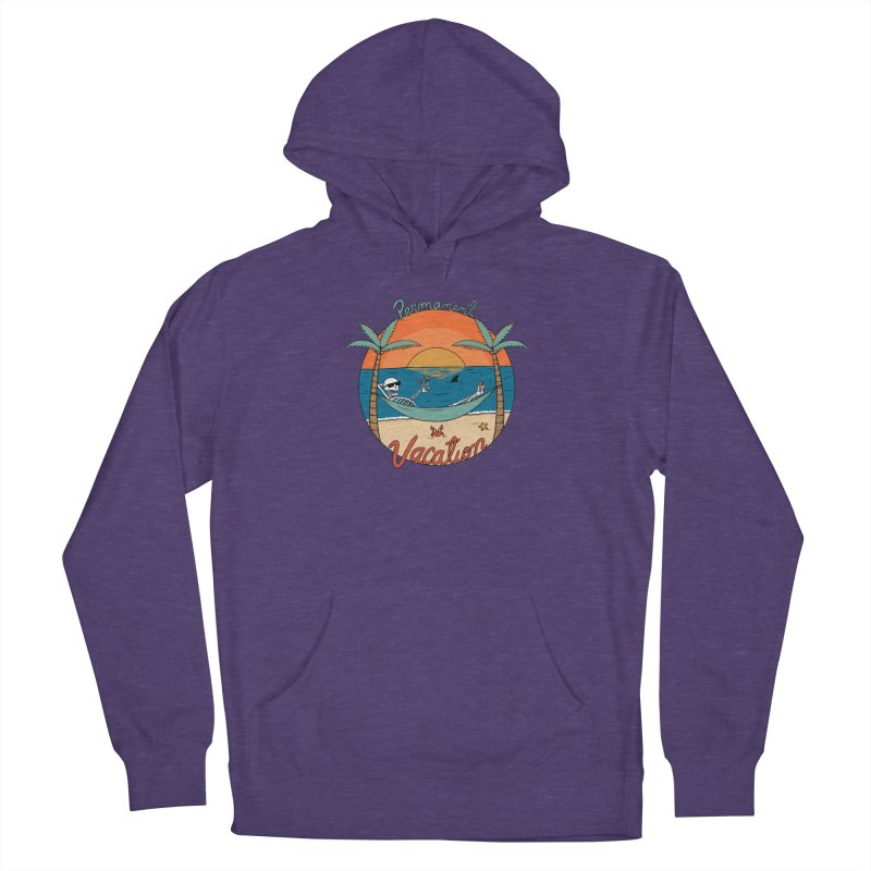 Skull permanent vacation Men's French Terry Pullover Hoody by coffeeman's Artist Shop