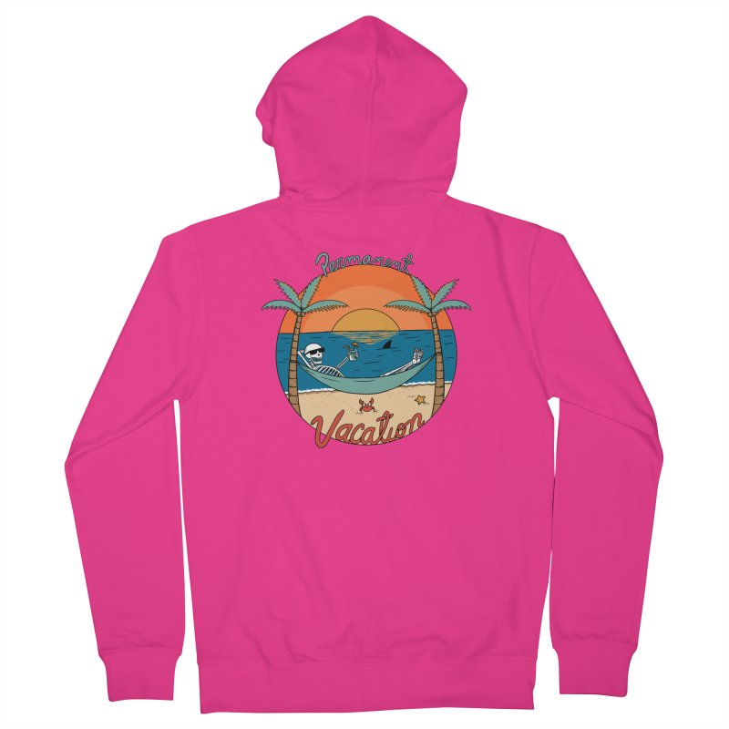 Skull permanent vacation Men's French Terry Zip-Up Hoody by coffeeman's Artist Shop