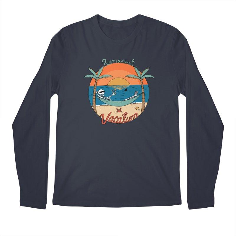 Skull permanent vacation Men's Regular Longsleeve T-Shirt by coffeeman's Artist Shop