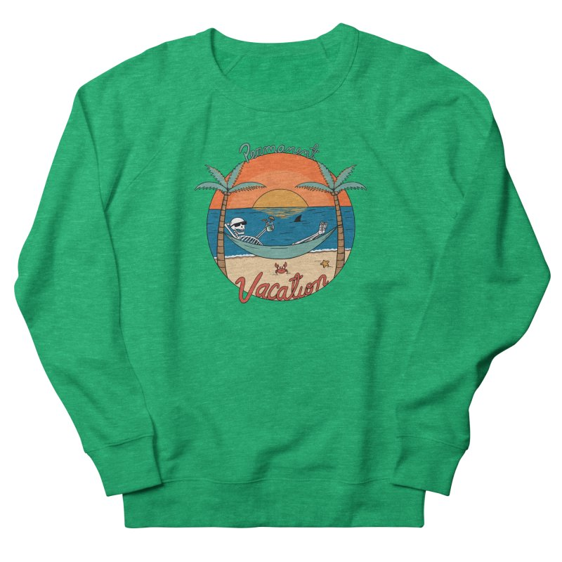 Skull permanent vacation Women's Sweatshirt by coffeeman's Artist Shop