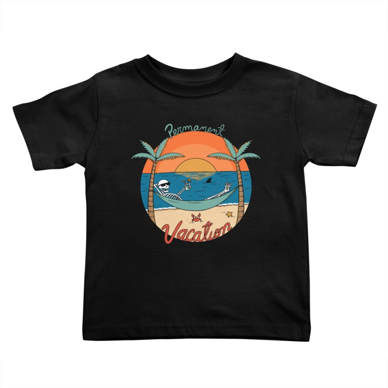 Skull permanent vacation Kids Toddler T-Shirt by coffeeman's Artist Shop