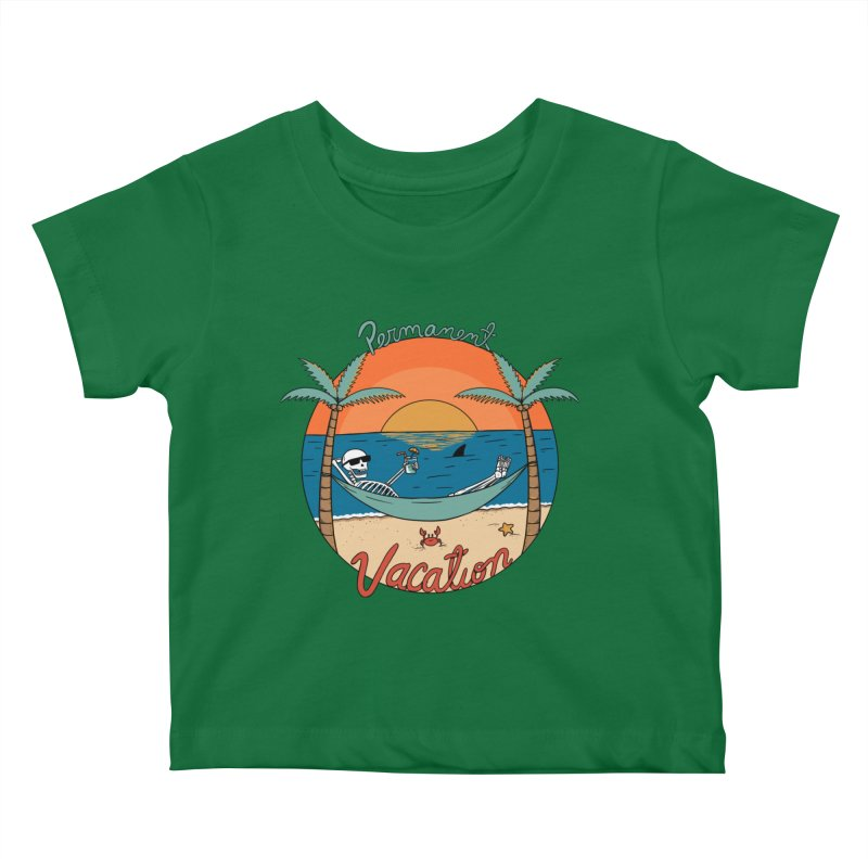 Skull permanent vacation Kids Baby T-Shirt by coffeeman's Artist Shop