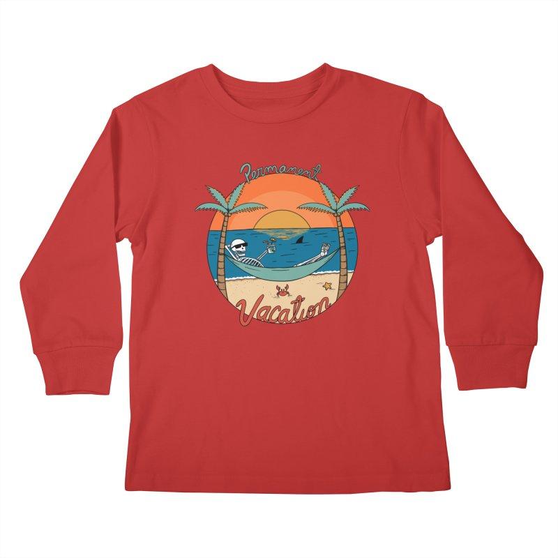 Skull permanent vacation Kids Longsleeve T-Shirt by coffeeman's Artist Shop