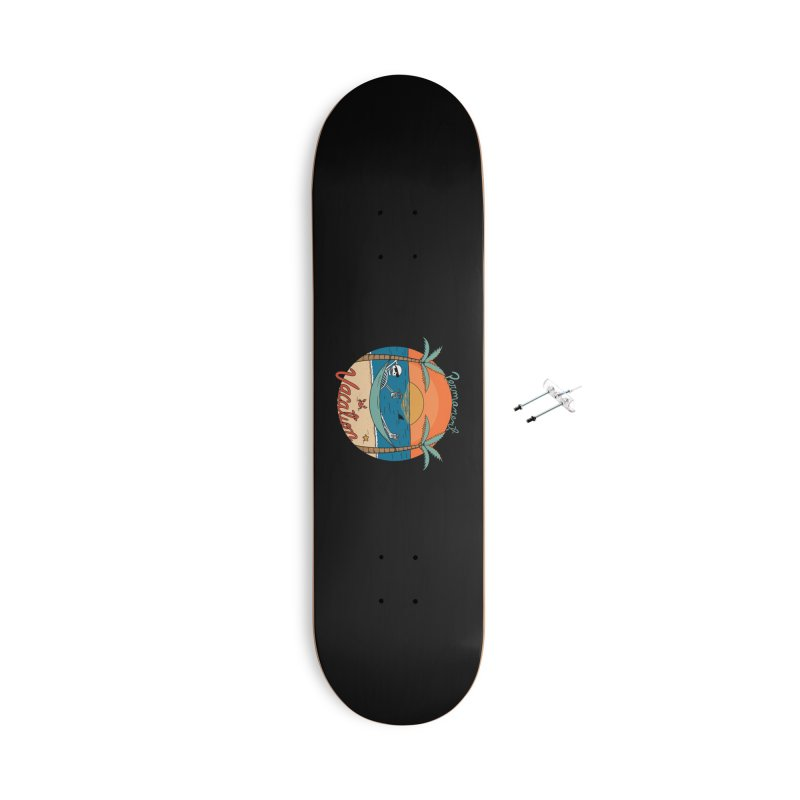 Skull permanent vacation Accessories With Hanging Hardware Skateboard by coffeeman's Artist Shop