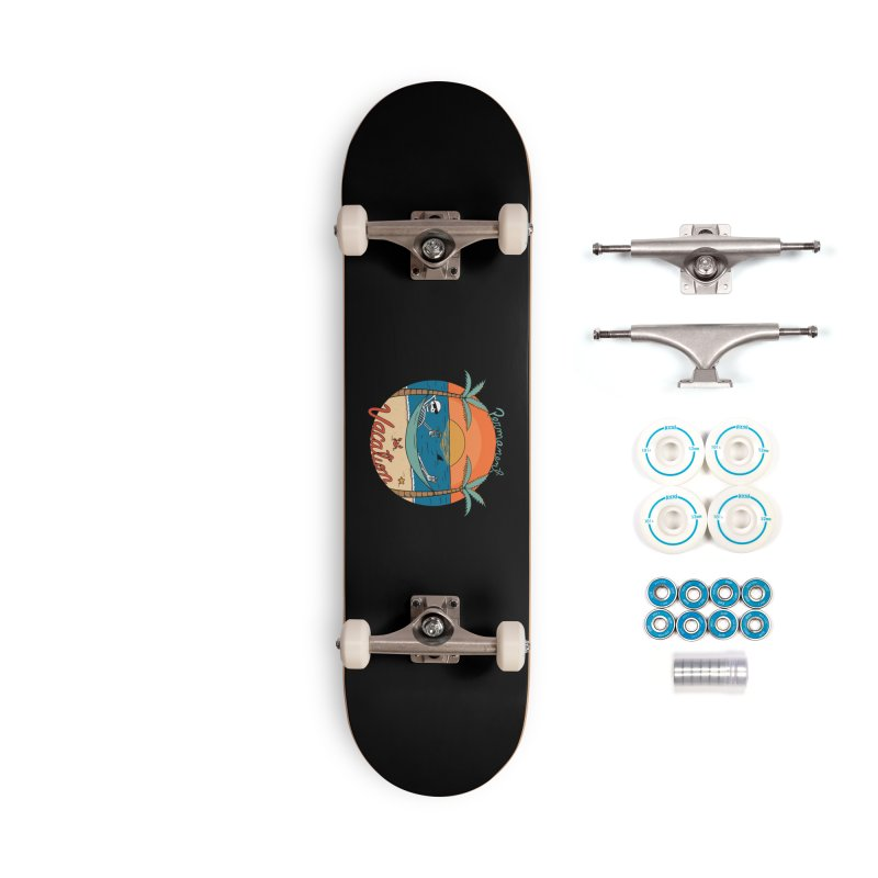Skull permanent vacation Accessories Complete - Basic Skateboard by coffeeman's Artist Shop