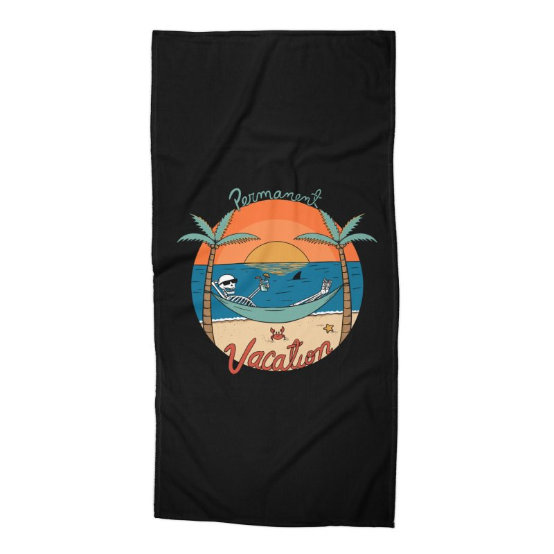 Skull permanent vacation Accessories Beach Towel by coffeeman's Artist Shop