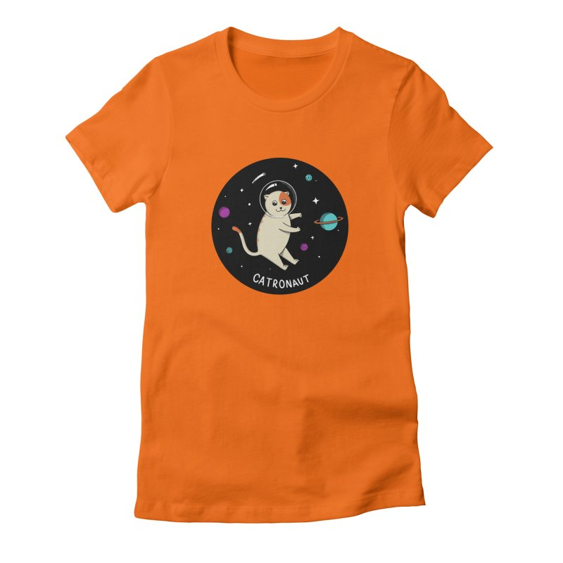 Cat Women's Fitted T-Shirt by coffeeman's Artist Shop