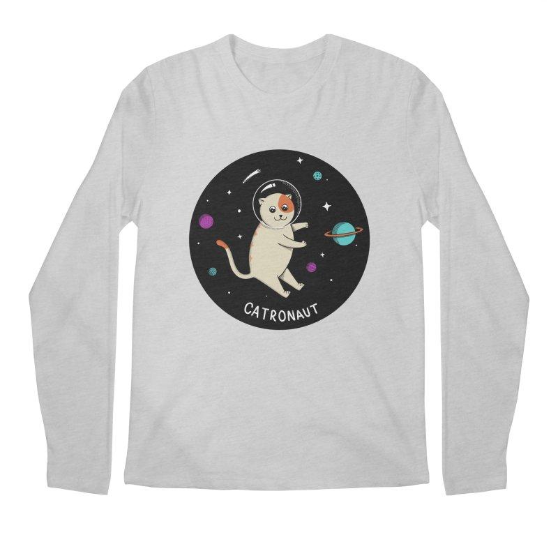 Cat Men's Regular Longsleeve T-Shirt by coffeeman's Artist Shop