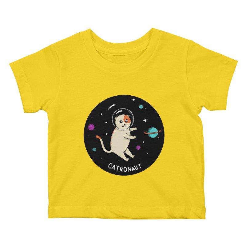 Cat Kids Baby T-Shirt by coffeeman's Artist Shop