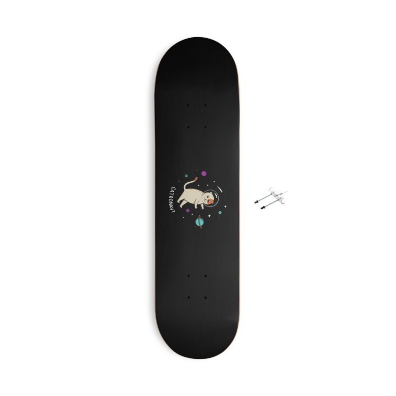 Cat Accessories With Hanging Hardware Skateboard by coffeeman's Artist Shop