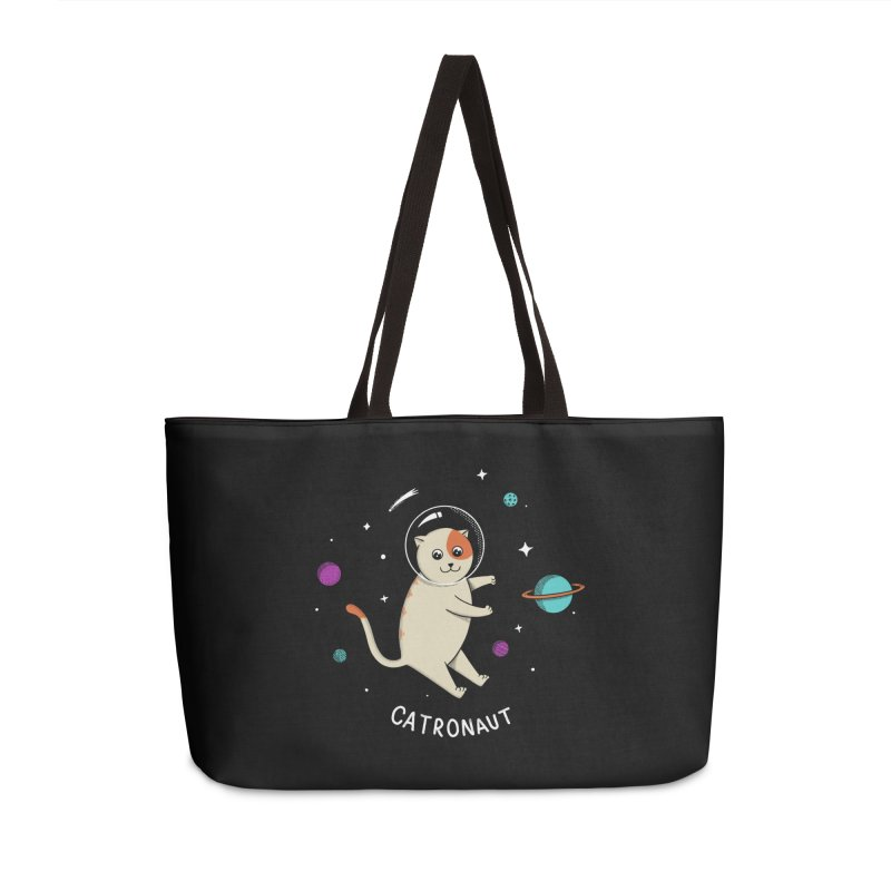 Cat Accessories Weekender Bag Bag by coffeeman's Artist Shop