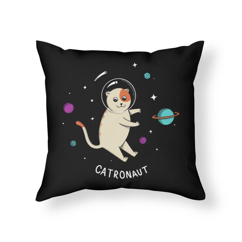 Cat Home Throw Pillow by coffeeman's Artist Shop