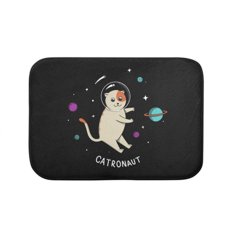 Cat Home Bath Mat by coffeeman's Artist Shop