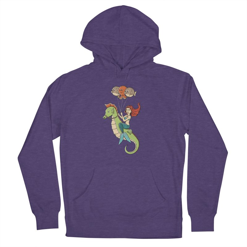 Mermaid Men's French Terry Pullover Hoody by coffeeman's Artist Shop