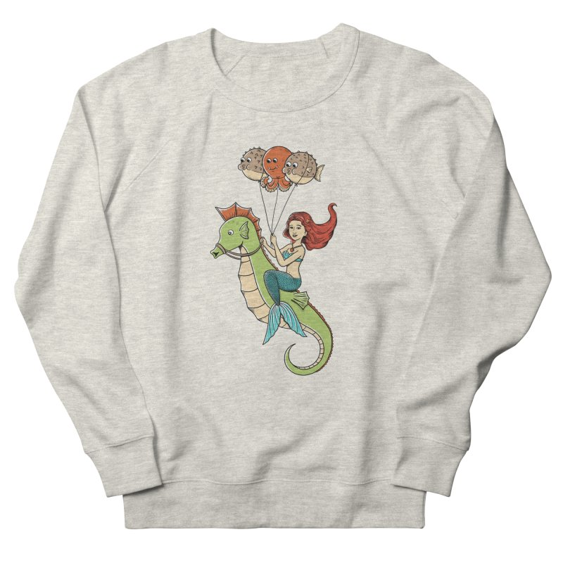 Mermaid Men's French Terry Sweatshirt by coffeeman's Artist Shop