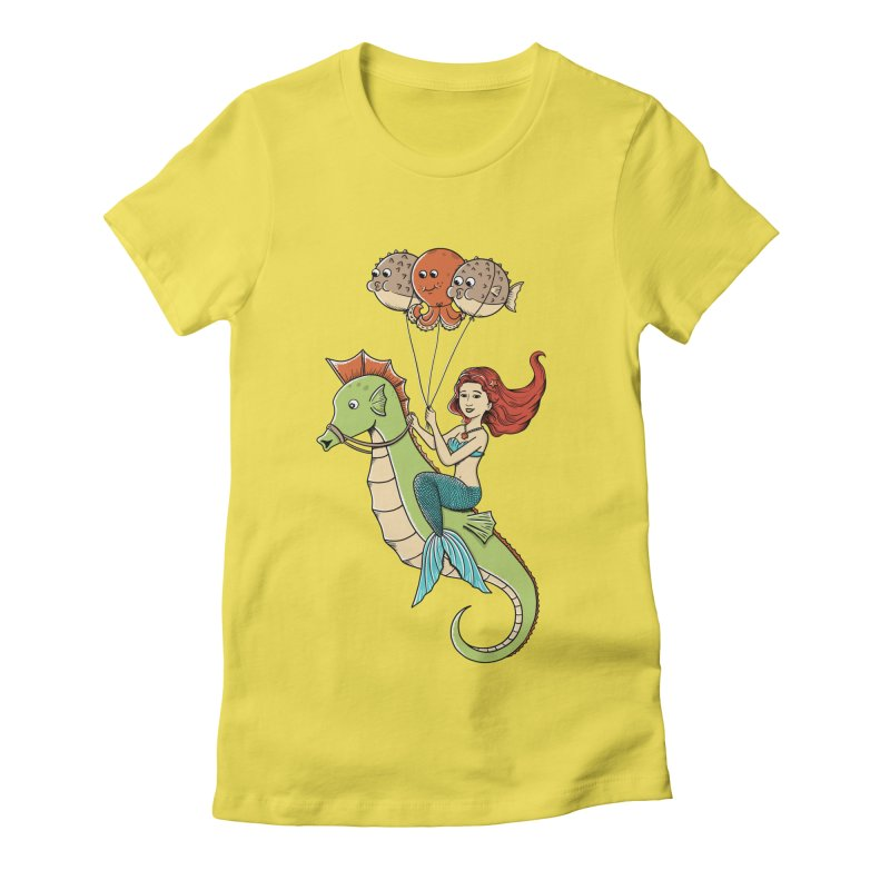 Mermaid Women's Fitted T-Shirt by coffeeman's Artist Shop