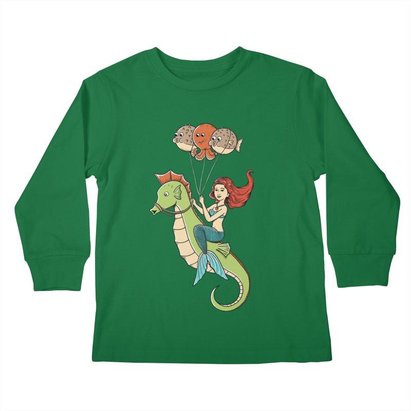 Mermaid Kids Longsleeve T-Shirt by coffeeman's Artist Shop