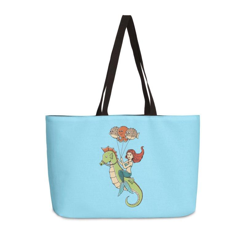 Mermaid Accessories Weekender Bag Bag by coffeeman's Artist Shop