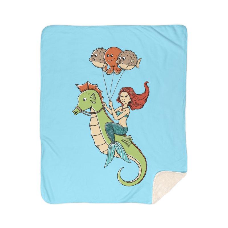 Mermaid Home Sherpa Blanket Blanket by coffeeman's Artist Shop