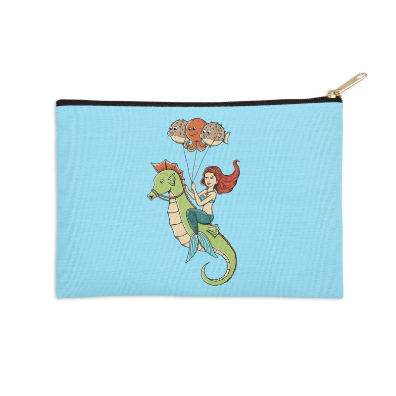 Mermaid Accessories Zip Pouch by coffeeman's Artist Shop