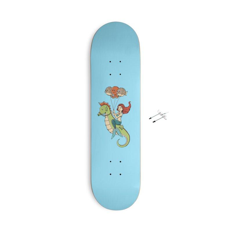 Mermaid Accessories With Hanging Hardware Skateboard by coffeeman's Artist Shop
