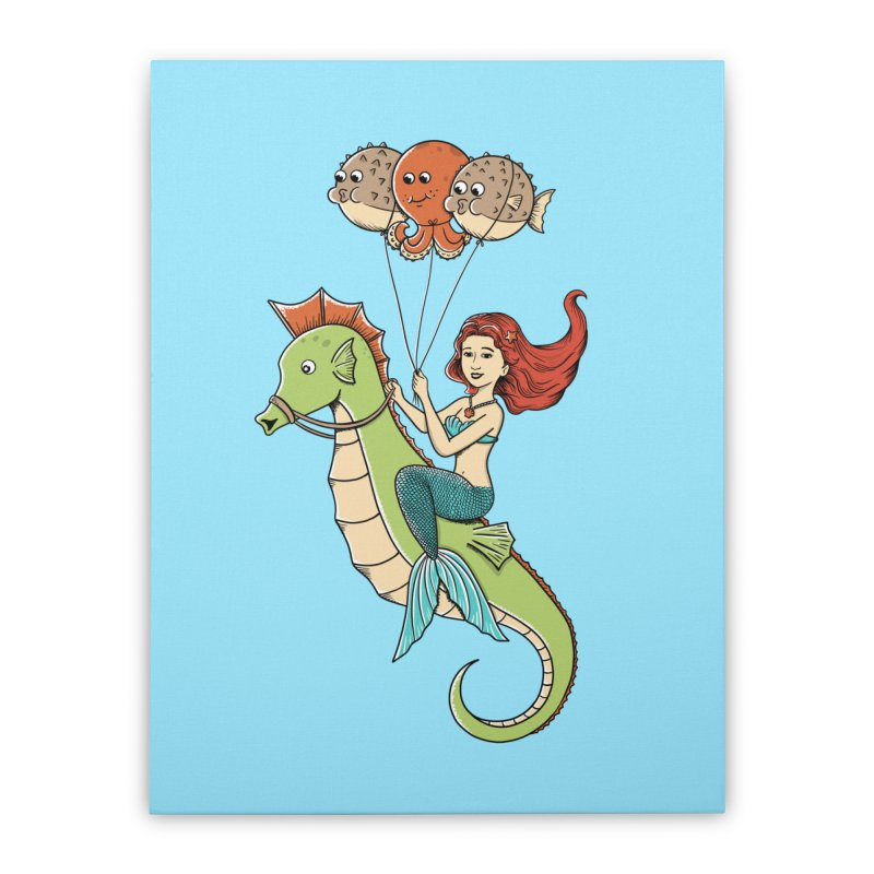 Mermaid Home Stretched Canvas by coffeeman's Artist Shop