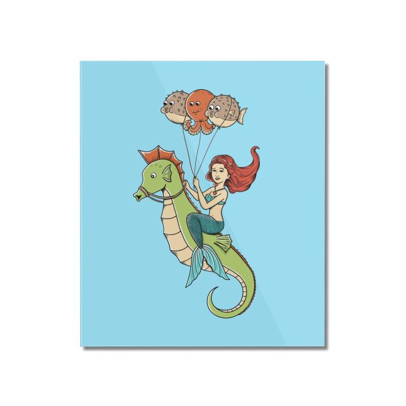 Mermaid Home Mounted Acrylic Print by coffeeman's Artist Shop
