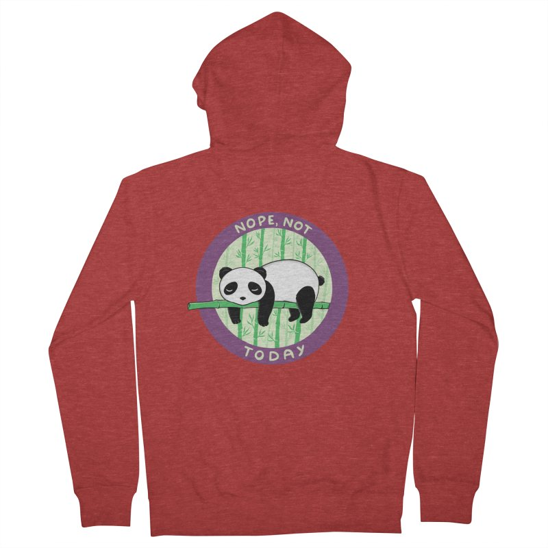 Bear Nope today Women's French Terry Zip-Up Hoody by coffeeman's Artist Shop