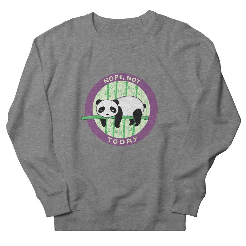 Bear Nope today Women's French Terry Sweatshirt by coffeeman's Artist Shop