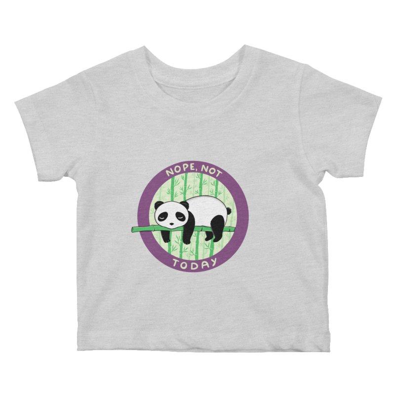 Bear Nope today Kids Baby T-Shirt by coffeeman's Artist Shop