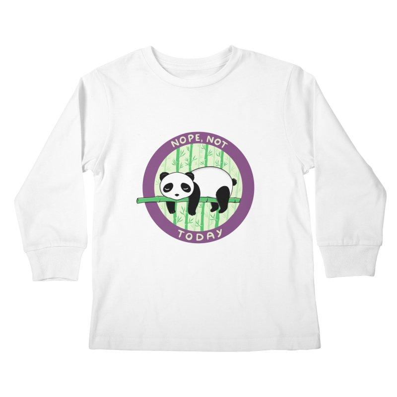 Bear Nope today Kids Longsleeve T-Shirt by coffeeman's Artist Shop
