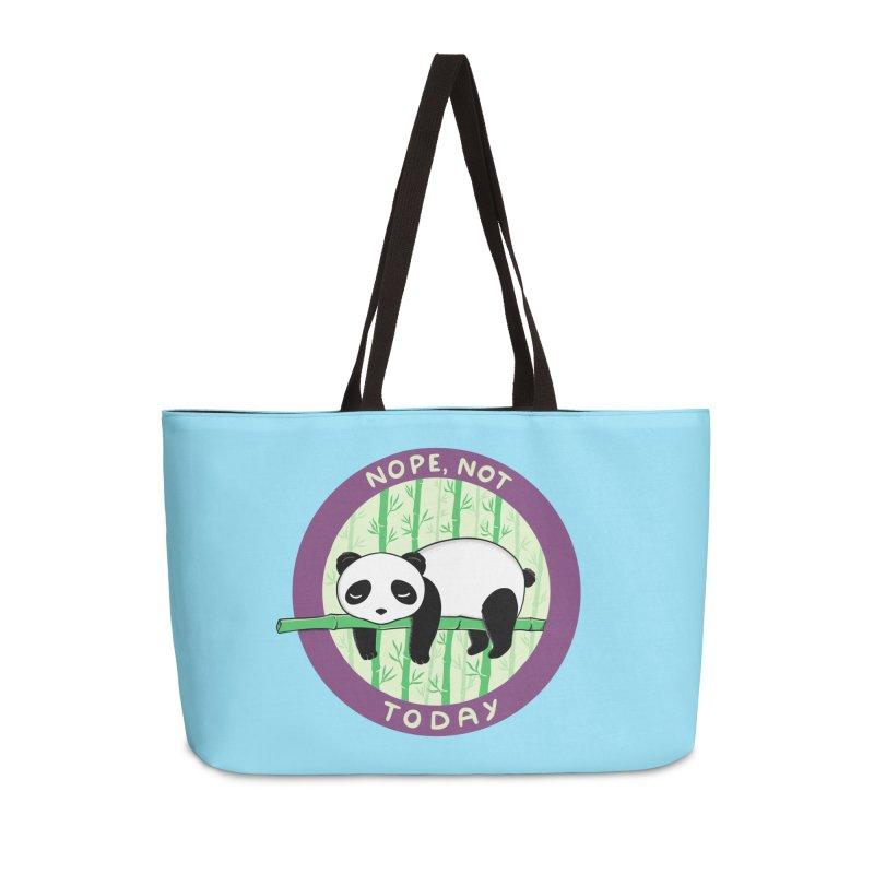 Bear Nope today Accessories Weekender Bag Bag by coffeeman's Artist Shop