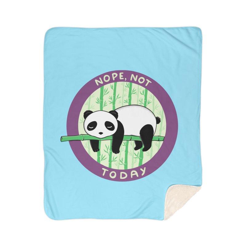 Bear Nope today Home Sherpa Blanket Blanket by coffeeman's Artist Shop