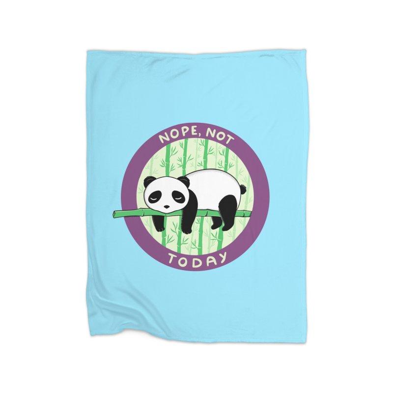 Bear Nope today Home Fleece Blanket Blanket by coffeeman's Artist Shop