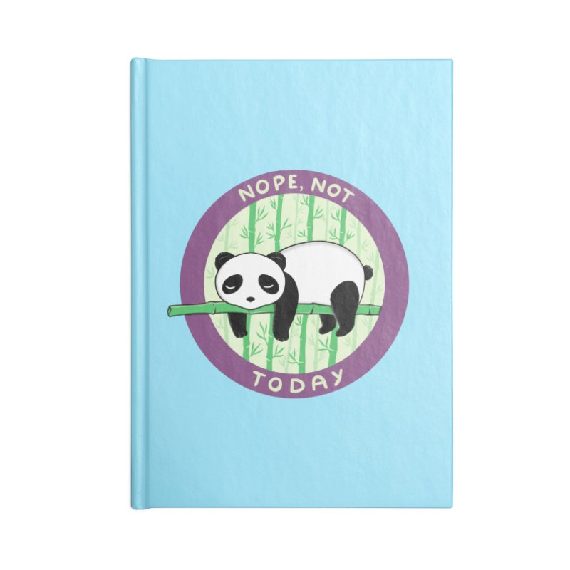 Bear Nope today Accessories Lined Journal Notebook by coffeeman's Artist Shop