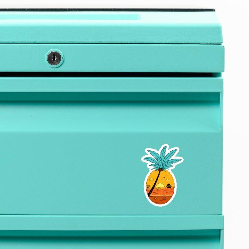 Pineapple summer sunset Accessories Magnet by coffeeman's Artist Shop