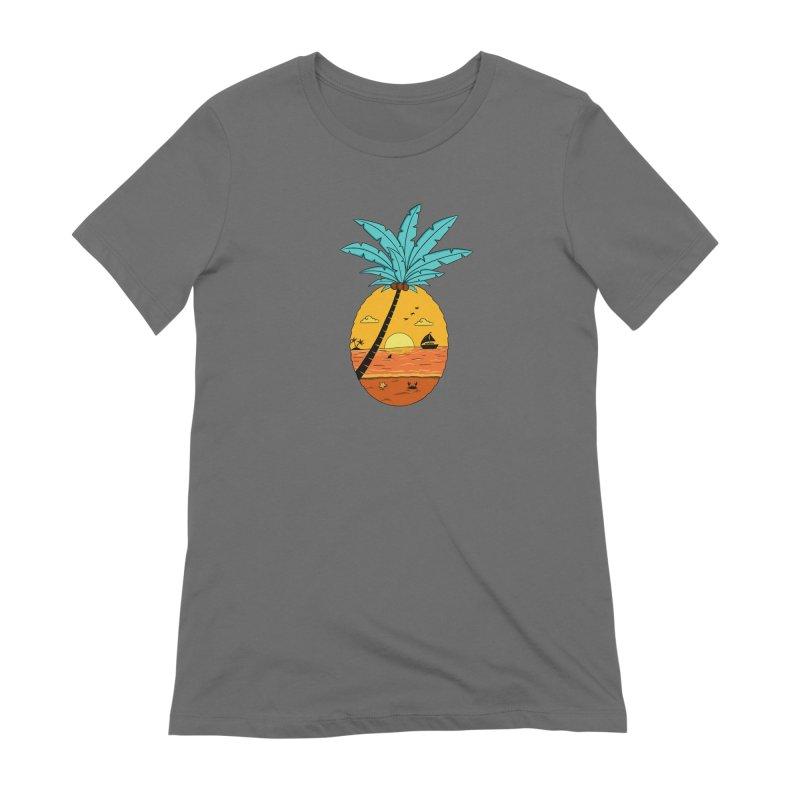 Pineapple summer sunset Women's T-Shirt by coffeeman's Artist Shop