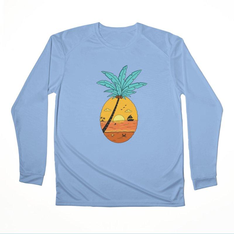 Pineapple summer sunset Men's Longsleeve T-Shirt by coffeeman's Artist Shop