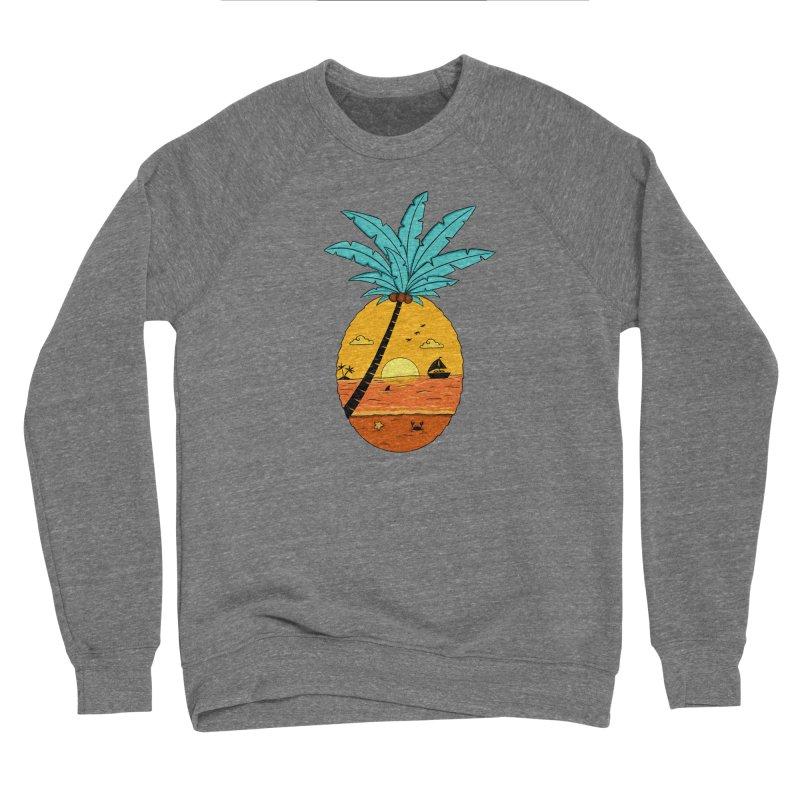 Pineapple summer sunset Women's Sponge Fleece Sweatshirt by coffeeman's Artist Shop