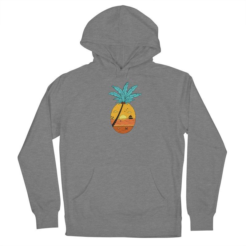 Pineapple summer sunset Women's Pullover Hoody by coffeeman's Artist Shop
