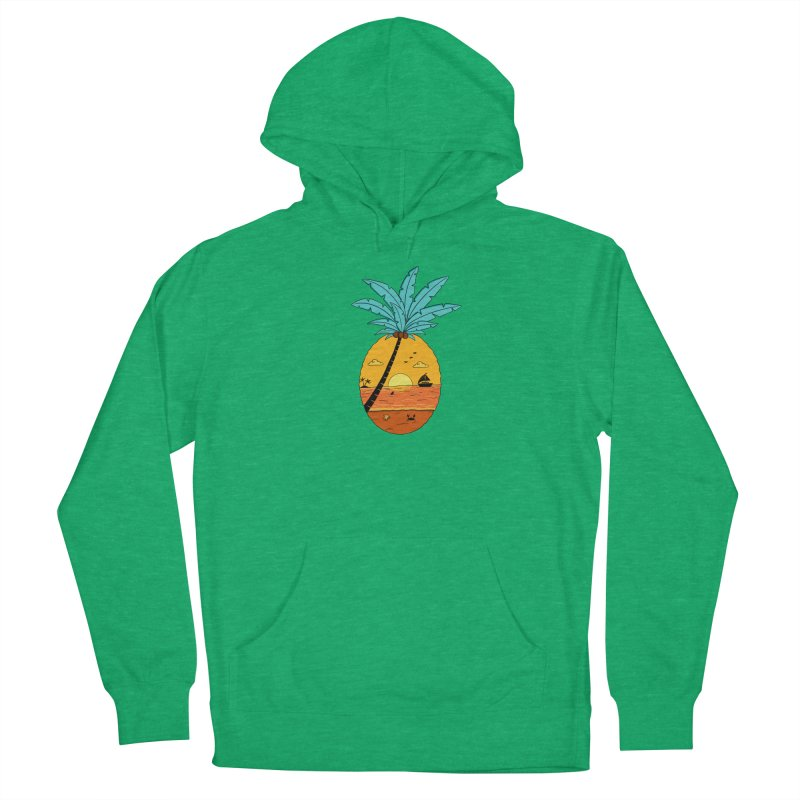 Pineapple summer sunset Men's French Terry Pullover Hoody by coffeeman's Artist Shop