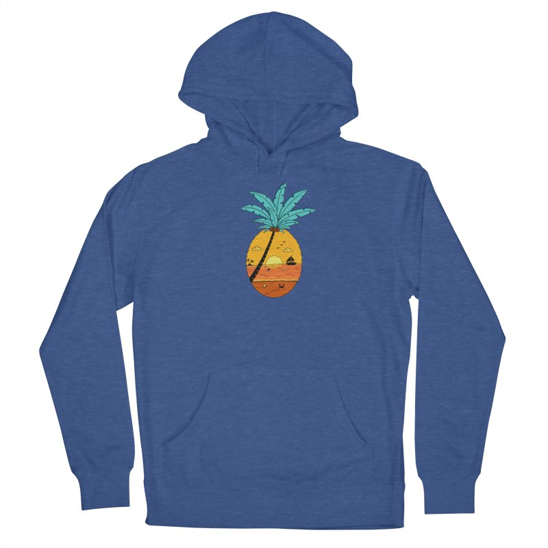 Pineapple summer sunset Women's French Terry Pullover Hoody by coffeeman's Artist Shop