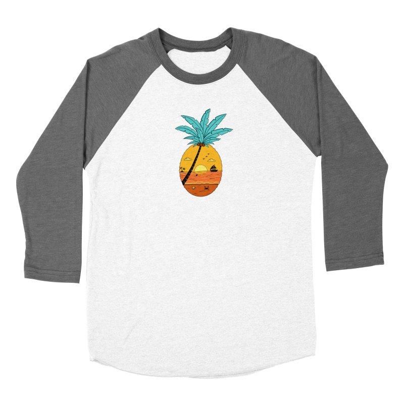 Pineapple summer sunset Women's Longsleeve T-Shirt by coffeeman's Artist Shop
