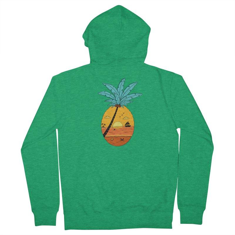 Pineapple summer sunset Women's Zip-Up Hoody by coffeeman's Artist Shop