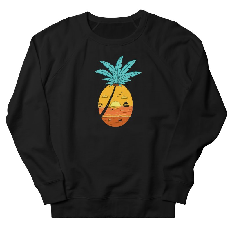 Pineapple summer sunset Women's French Terry Sweatshirt by coffeeman's Artist Shop