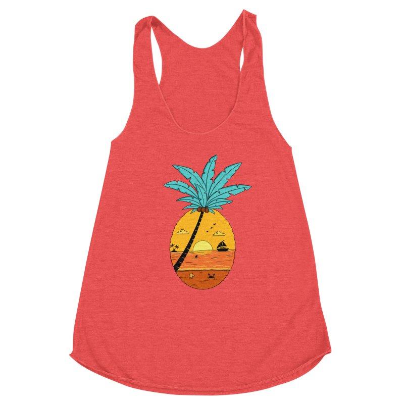 Pineapple summer sunset Women's Tank by coffeeman's Artist Shop