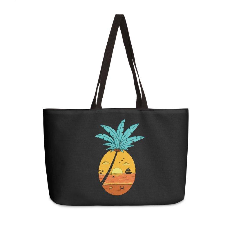 Pineapple summer sunset Accessories Weekender Bag Bag by coffeeman's Artist Shop