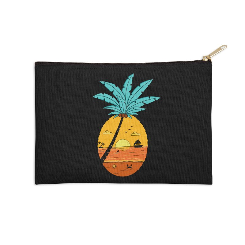 Pineapple summer sunset Accessories Zip Pouch by coffeeman's Artist Shop